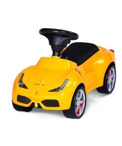 Yellow Licensed Ferrari 458 Foot to Floor Ride on-0