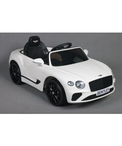 12v white bentley gt electric ride on car