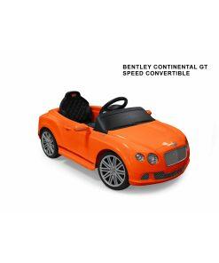 12v Orange Licensed Bentley GTC Ride on Car with Parental Remote Control-0