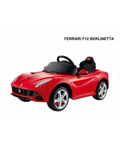 12v Red Licensed Ferrari F12 Ride on Car with Parental Remote Control-0