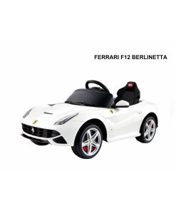 12v White Licensed Ferrari F12 Ride on Car with Parental Remote Control-0