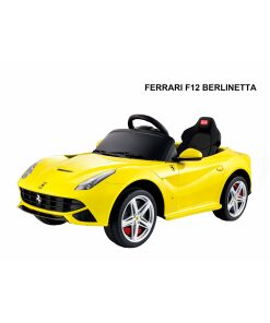 12v Yellow Licensed Ferrari F12 Ride on Car with Parental Remote Control-0