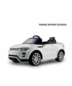 White 12v Range Rover Evoque Licensed Ride on Jeep with Parental Remote Control-0
