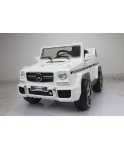 Licensed White 12v Mercedes G63 AMG Ride on Jeep with Parental Remote Control-0