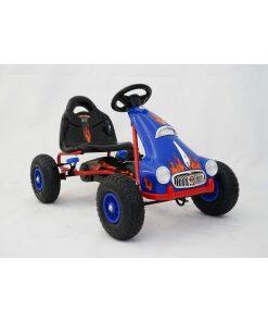 Kids Ride on Pedal Go Kart - Blue-0