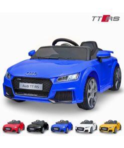 Licensed 12v Audi TT RS with Parental Remote Control - Blue-0