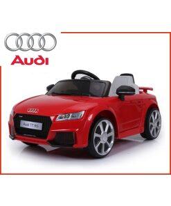 Licensed 12v Audi TT RS with Parental Remote Control - Red-0