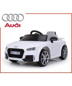 Licensed 12v Audi TT RS with Parental Remote Control - White-0