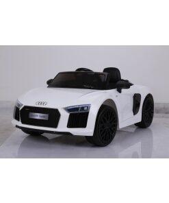12v White Audi R8 Spyder Ride on Electric Car