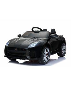 Licensed 12v Jaguar F-Type SVR with Parental Remote Control - Black