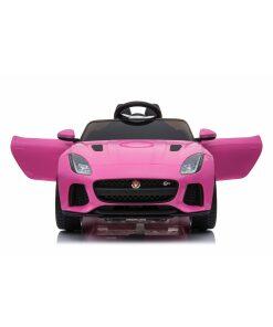 Licensed 12v Jaguar F-Type SVR with Parental Remote Control - Pink
