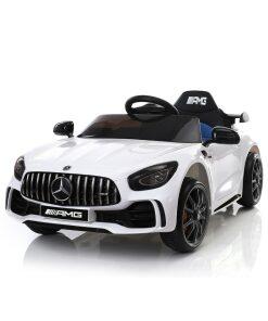 12v White Mercedes GT R AMG Electric Ride on Car
