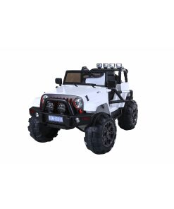 12v White Ride on Kids Electric Jeep 4x4 SUV