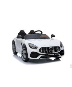 Licensed White 12v Mercedes AMG GT Ride on Car with Parental Remote Control