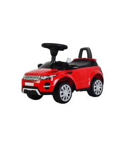 Red Range Rover Evoque ride on car foot to floor