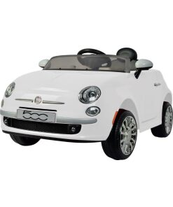 12v White Electric Ride on Fiat 500