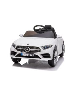 Licensed White 12v Mercedes CLS Ride on Car with Parental Remote Control