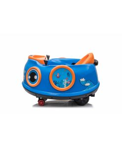 12v Kids Toy Electric Ride On Waltzer Bumper Car for Toddlers in Blue With Parental Remote Control-0