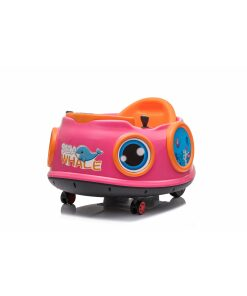 12v Kids Toy Electric Ride On Waltzer Bumper Car for Toddlers in Pink With Parental Remote Control-0