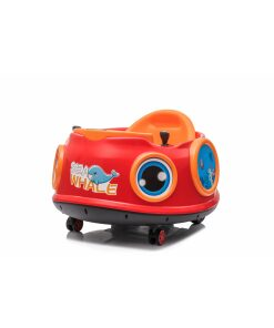 12v Kids Toy Electric Ride On Waltzer Bumper Car for Toddlers in Red With Parental Remote Control-0